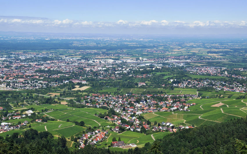 Look over Offenburg Aerial View Built Structure Cityscape Cloud - Sky Horizon Over Land Landscape Landscape_Collection Offenburg Outdoors Scenics Town TOWNSCAPE