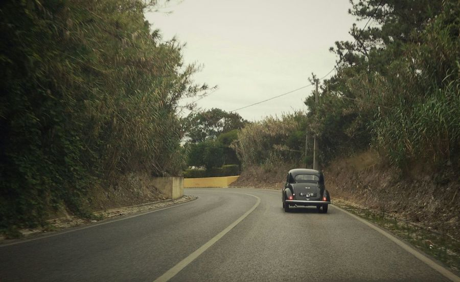 Oldtimer Car Going For A Ride