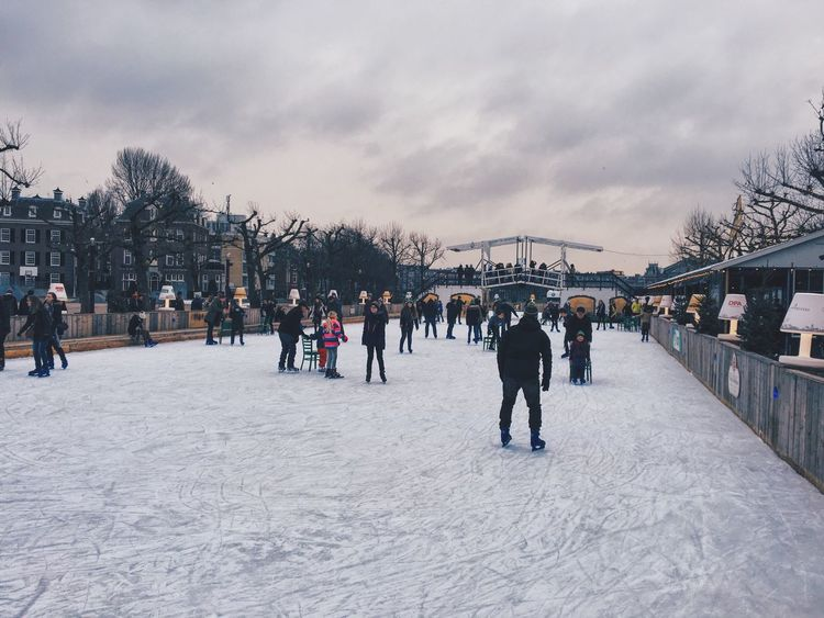 On Ice Ice People Amsterdam Outdoors Winter February 2016 People On Ice Netherlands Joy Happiness Enjoying Life Sky And Clouds Check This Out
