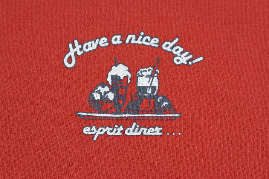 Close-up of a design on fabric - have a nice day Backgrounds Close-up Communication Company Design Drink Drinks Enjoying Life Esprit Fabric Food And Drink Handwriting  Happiness Happy Have A Nice Day Have A Nice Day! Have A Nice Day♥ Ice Cream Illustration Logo Message Motto No People Script Slogan
