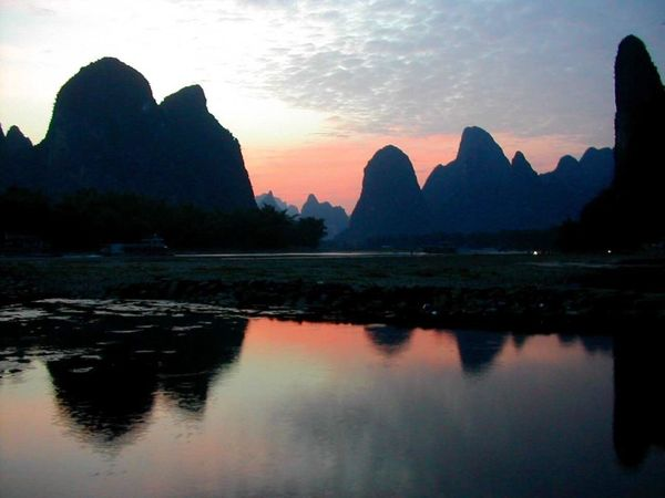 No title~Sans titre (无题) Yangshuo Yunnan China Montains    Sunset Guilin