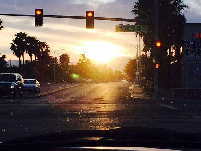 Sunset in Las Vegas. Las Vegas Sunset Bored Saturday Saturday Evening