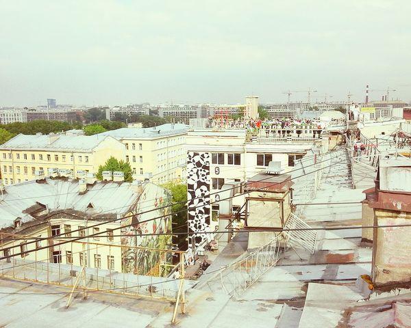 и снова, всем известная крыша💁👯💃 Ontheroof Hello World Лофт-проект этажи Summer Saint Petersburg