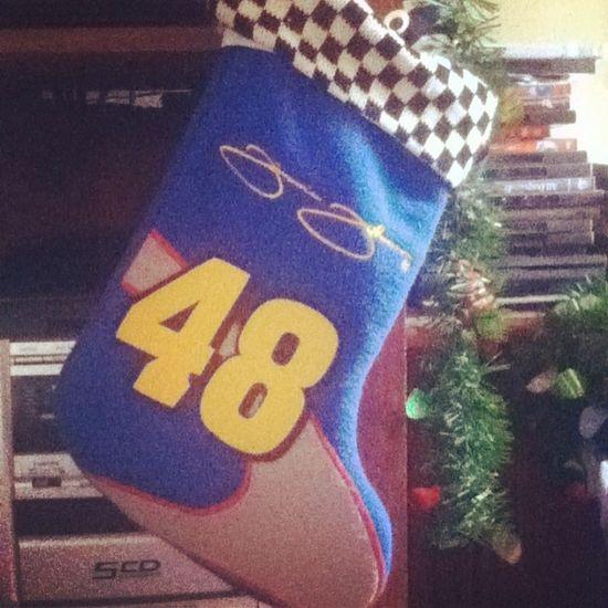 Got my JimmieJohnson Christmas stocking up! Lowes 48