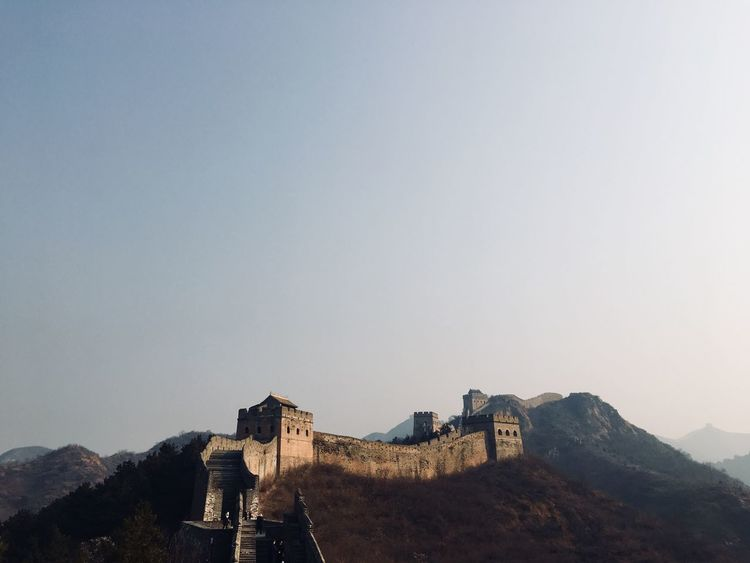 China Historical Architecture Historical History Great Wall Of China Built Structure Clear Sky