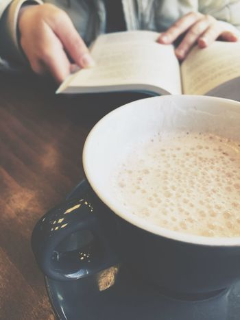 Girl reading a book in a cafe. Cup of coffee and book Women Library Reading Girl Coffee Cup Table Studying Cafe Book
