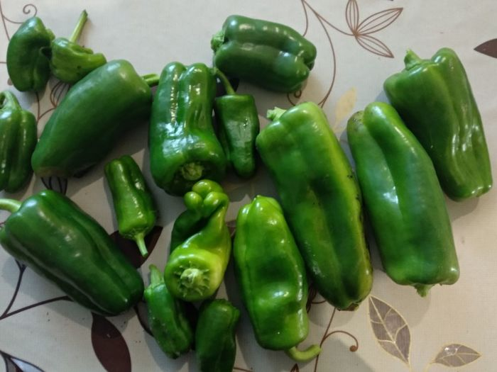 Vegetable Raw Food Green Color Food And Drink Close-up Green Chili Pepper Pepper - Vegetable Green Bell Pepper