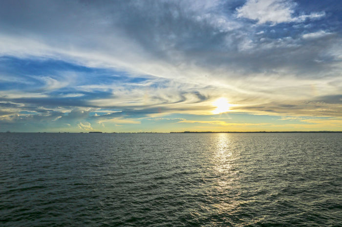 Sunset Horizon Over Water Nature Sea Sea And Sky Sky Sun Sunset Sunset And Clouds  Sunset Clouds And Sky Sunset Sky Sunset Sky And Clouds Sunsetclouds Sunsets