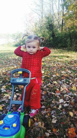 My beautiful daughter finally let me put her hair up! Looking At Camera Cute Outdoors Portrait Day Childhood Leisure Activity One Person TreeInnocence Rural Scene Forever My Baby Sunlight Real People Grass People Close-up