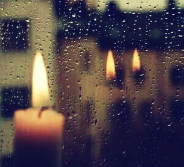 Candlelight Mirror Reflection Mirror Effect Rain Drops Rainy Days Rain At Window Blue Wave Night Views Darkness To Light EyeEm Best Shots EyeEm Gallery Eye For Photography Glasshouse
