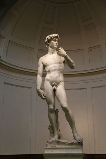 David Florence Italy Accademia Architecture Art And Craft Built Structure Day Human Representation Low Angle View Male Likeness Michelangelo's David No People Outdoors Renaissance Sculpture Statue