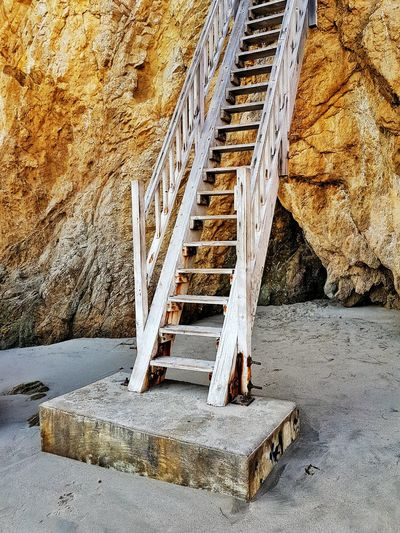 Day Outdoors No People Steps And Staircases Close-up Beachphotography Los Angeles, California Malibu Beach Beach Photography California Backgrounds Stone Material Stairs_collection Stairs