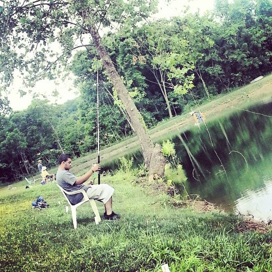 Multitasking @jroc_325 you cannot be on your phone AND catching fish.