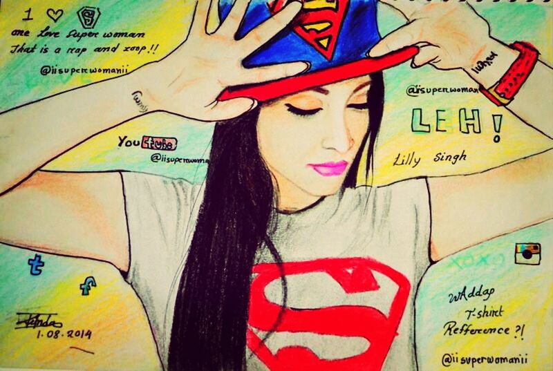 Art Best YouTuber Ever Superwoman Lilly Singh
