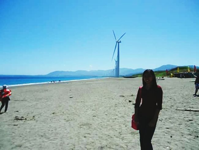 The Adventure Handbook Blue water, clear skies, & windmills by the sea. Amazing trip to Ilocos Sur, Philippines! Travel It's More Fun In The Philippines! My Travel Diaries Must See Enjoying Life Taking Photos Glitch