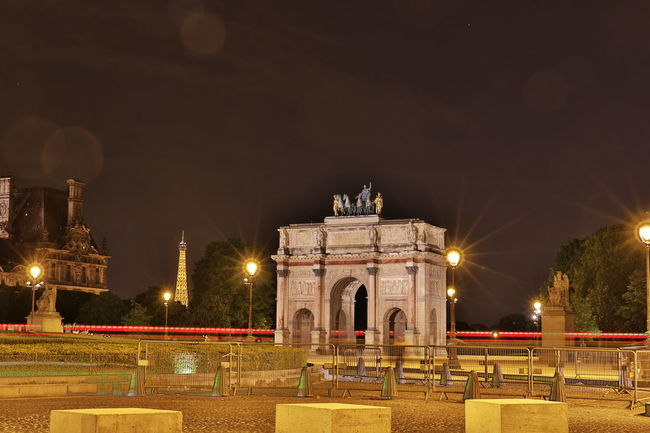 Arc De Triomphe Du Carrousel Arch Architecture Built Structure City EyeEm Best Shots France History Illuminated Memorial Monument Night Night Photography Nightphotography Outdoors Paris Paris, France  ParisByNight Sky Statue Travel Destinations The Architect - 2017 EyeEm Awards