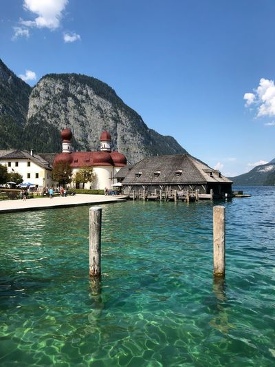 Church Königssee Königssee, Germany Water Sky Architecture Built Structure Waterfront Building Exterior Nature