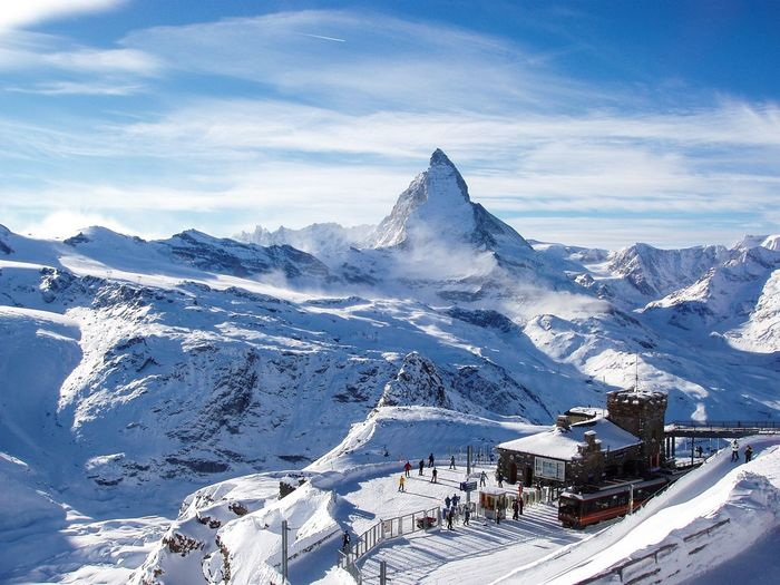 Matterhorn  Cervino Zermatt Snow Glacier Switzerland Gornergrat Mountain View Mountains Alps