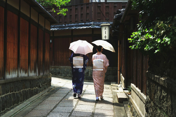 Adults Only Day Girls Japan Japanese Culture Kimono Kimono Girl Outdoors Real People Rear View Sisters Street Togetherness Traditional Clothing Two People Umbrella Women Kyoto, Japan Kyoto JapaneseStyle Japanese Girl Japanese Traditional Clothes Japanese Trademarks Japanese Tradition Japanese Culuture