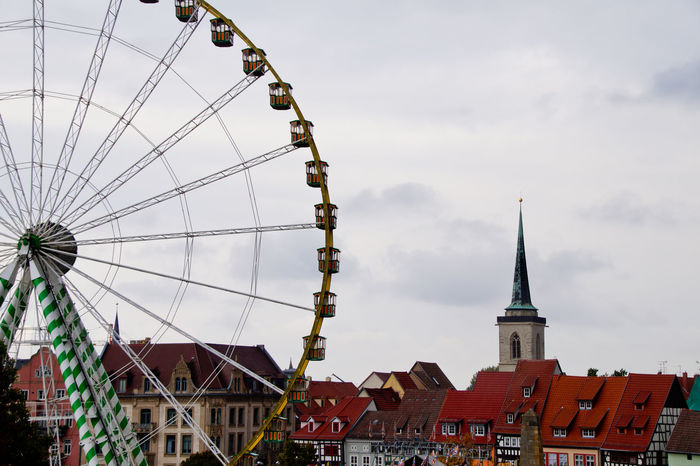 Cityscape Dom Jahrmarkt Postcode Postcards Rethink Things Second Acts Amusement Park Architecture Arts Culture And Entertainment Big Wheel Building Exterior Built Structure City Close-up Day Dome Ferris Wheel Low Angle View No People Outdoors Sky