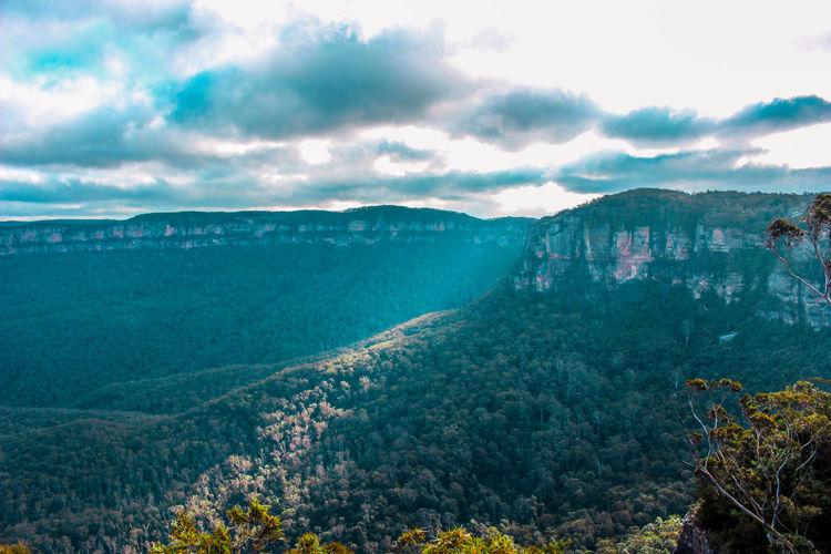 Australia Beauty In Nature Bluemountains Cloud - Sky Day Growth Idyllic Katoomba Katzen Landscape Mountain Mountain Range Mountains Mountains And Sky Nature No People Outdoors Scenics Sky Summer Tranquil Scene Tranquility Travel Destinations Tree