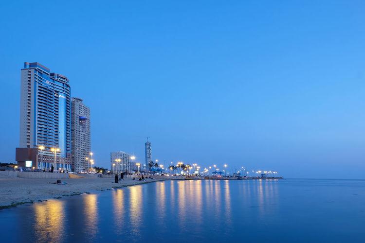 Jeddah Landmarks Architecture Jeddah Jeddah City Jeddah Landmarks Landmarks Saudi Arabia Blue Sky Golden Hour Landscape Seascape Sunset