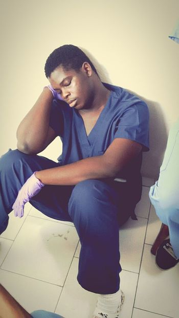 Haitian Medical Student Sleppy Concentration Lonely Guy Transparency Hope To Save Lives