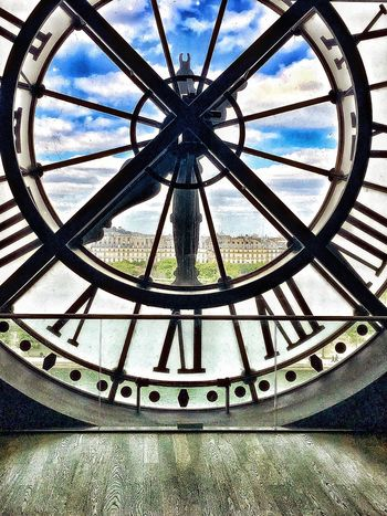 EyeEmNewHere Oldclock Timepiece Architecture History Sky Travel Destinations Roman Numeral Window Cloud - Sky Close-up Clock Face Museum