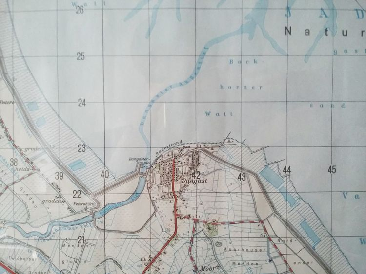 Map of Dangast. · Germany Friesland Cartography Design Information Design Wallpaper Head On Blue Light Blue