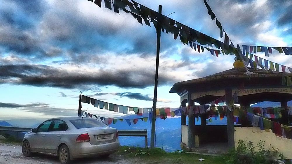 The Drive Cloud - Sky Sky Outdoors No People Nature Day Roadtrip2016 Roadtrippin' North East India Tawang Arunachal Prayer Flags  Viewpoint Calmness Sunrise