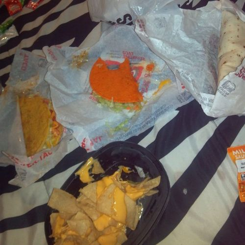 Taco bell kinda night (:Favfood Lovetacobell Sweetboyfriend
