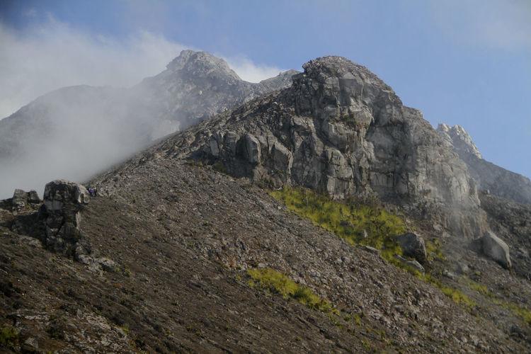 Mt merapi against sky