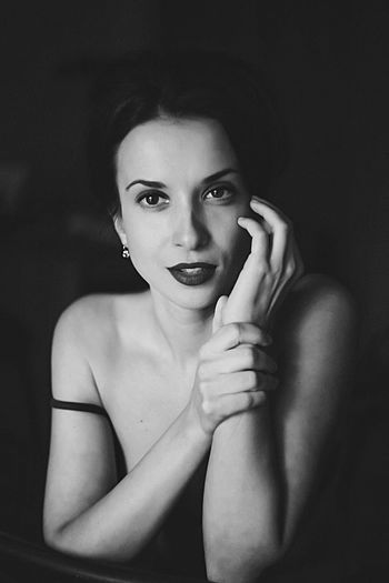 Girl Blackandwhite Sexygirl Portrait Beauty Beautiful Big Eyes Russia