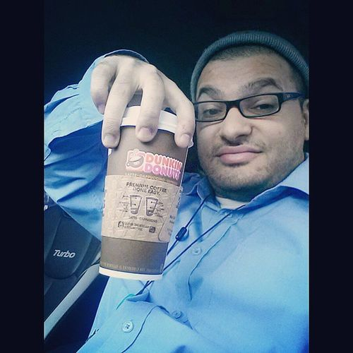 VIP access Morning latte made before I walk in Dunkindonuts Latte Coffee Sugarcookie @bigbeed
