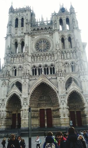 Carhedrale gothique d'Amiens❤ Architecture City Life History Built Structure Lifestyles Contemplation Cathédrale D'Amiens The City Light