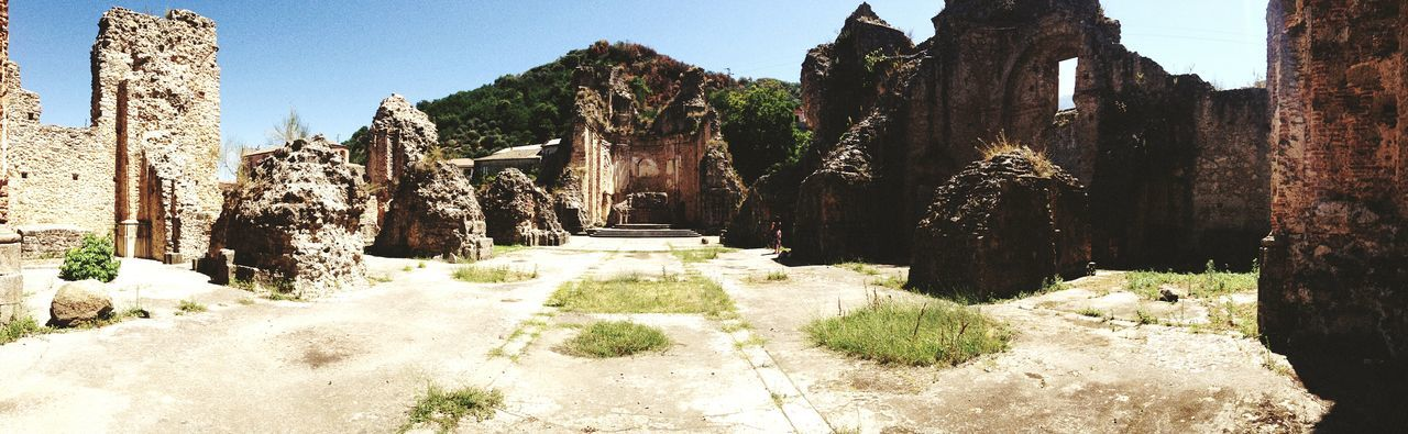 Ancient Ruins Church Calabria Panoramic Photography 180° Silence Cultures