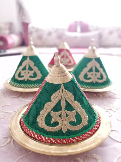 Creativity Multi Colored Ornament No People Model - Object Geometric Shape Art And Craft Architectural Feature Decoration Art Imagination Morocco Tifour Achoura