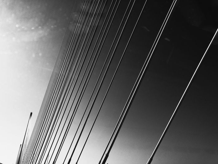 Road Travel Bridge Blackandwhite Monochrome Crossing Bridge Connection Low Angle View Outdoors No People Sky Day Architecture LINE