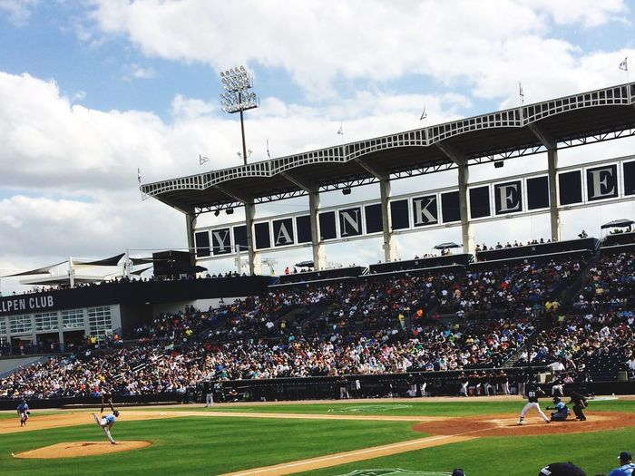Large Group Of People Stadium Sport Architecture Outdoors Sky Day Real People People Adults Only Adult Tampa Bay Rays Baseball Spring Training Yankees