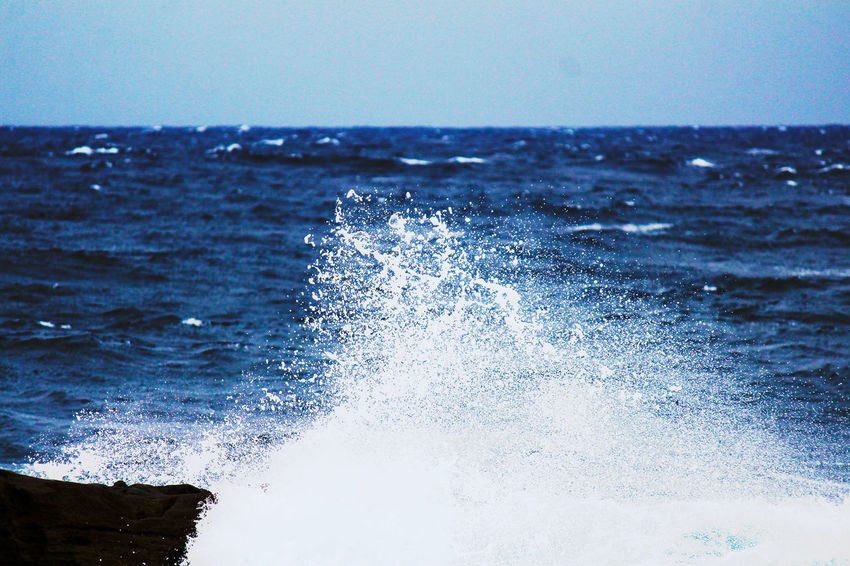 Blue Sky Capture The Moment Drops EyeEm Nature Lover Pacific Ocean Sea And Sky Spindrift Taking Pictures Wave