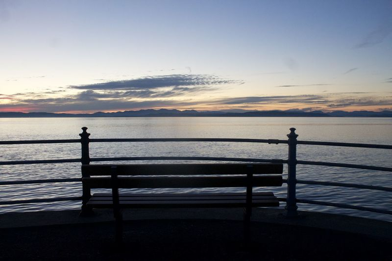 Bench Morecambe Peaceful Photography Railing Relaxing Selfie Sunset Tranquility View