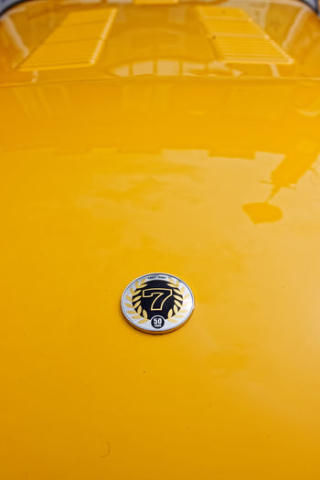 Faversham car show 2018 Lotus 7 Background Backgrounds Badge Car Close-up Copy Space Drain Faversham Full Frame Geometric Shape High Angle View Indoors  Metal Nature No People Purity Shape Shiny Sink Steel Still Life Vechicle Water Yellow