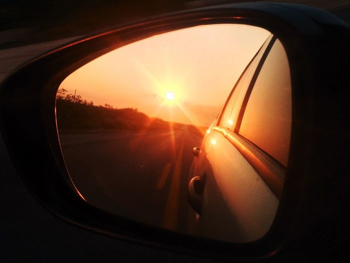 Sunset Sunset_collection Retrovisor Starting A Trip