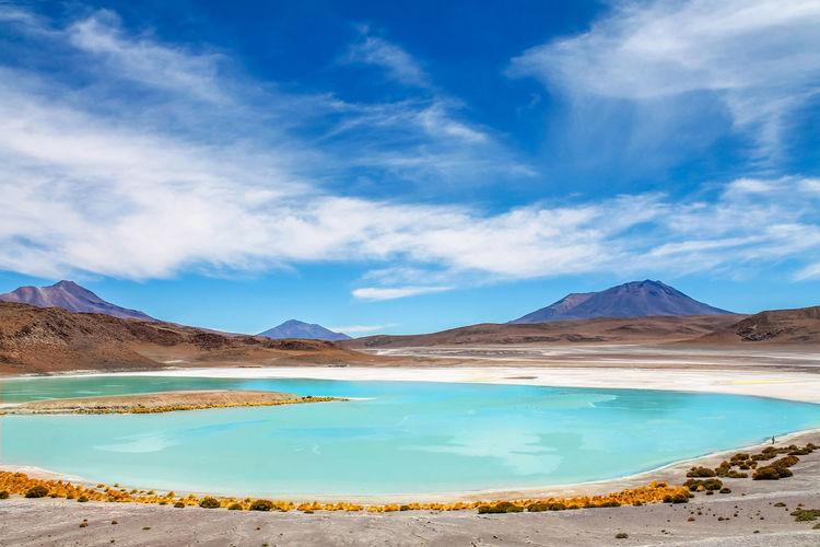 The landscapes from uyuni salt desert, bolivia