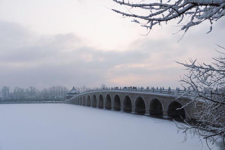 Summer palace winter snow, beijing landmark