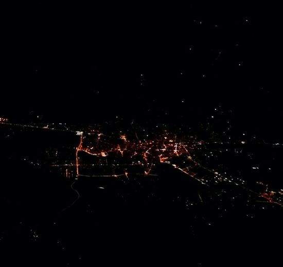 From An Airplane Window From My Point Of View Mobile Photography In Flight Cityscape Nightphotography Night Lights Light Pollution Night Star - Space Astronomy No People Space Outdoors Illuminated