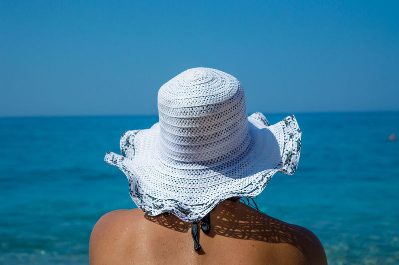 Blue Contemplation Day Hat Horizon Over Water Nature Person Personal Perspective Sea Summer Tranquility Vacations Water Women Around The World Long Goodbye
