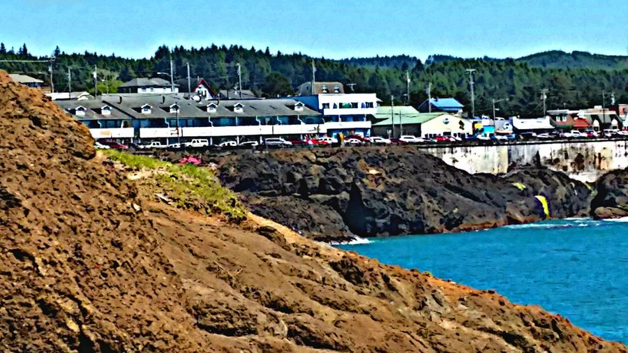 Beautiful Depoe Bay Nature Landscape Rock - Object Clear Sky AndroidPhotography My Photo Album ♡