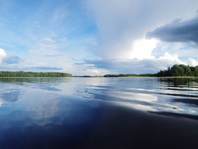 Nature Beautiful Nature Water Reflections Lake Sky Forest Water Clouds Little Waves