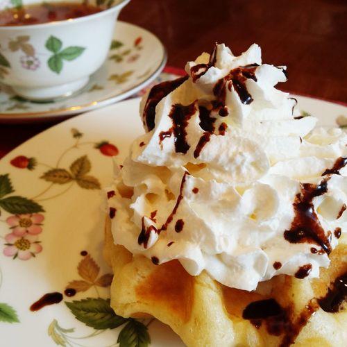 おうちカフェ☕ Taking Photos Enjoying Life Tasty Dishes Food Foodporn Delicious Eating Happy Life Chocolate♡ So Much Flavor Cafe Gauffre Chantilly